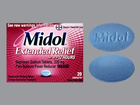 Midol (naproxen) 220 mg tablet