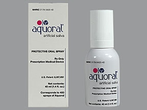 Aquoral mucosal spray