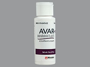 Avar-E 10 %-5 % (w/w) topical cream