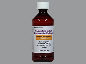 prednisolone sodium phosphate 25 mg/5 mL (5 mg/mL) oral solution