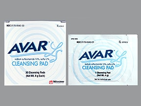 Avar LS 10 %-2 % topical pads
