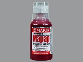 Mapap (acetaminophen) 160 mg/5 mL oral liquid