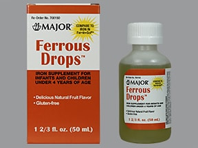 ferrous sulfate 15 mg iron (75 mg)/mL oral drops