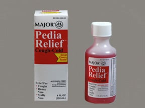 Pedia Relief Cough-Cold 1 mg-15 mg-5 mg/5 mL oral liquid