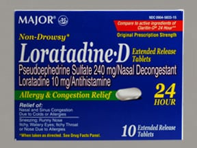 Loratadine-D 10 mg-240 mg tablet,extended release 24 hr