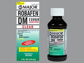 Robafen DM Cough 10 mg-100 mg/5 mL oral liquid