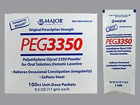 polyethylene glycol 3350 17 gram oral powder packet