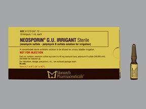 Neosporin GU Irrigant 40 mg-200,000 unit/mL