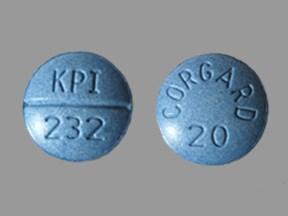 Corgard 20 mg tablet