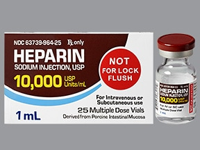 heparin (porcine) 10,000 unit/mL injection solution