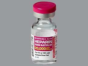 heparin (porcine) 20,000 unit/mL injection solution