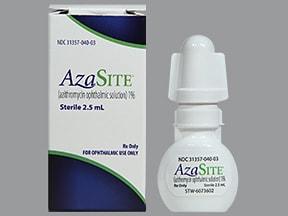 Azasite 1 % eye drops