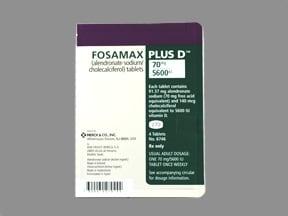 Fosamax Plus D 70 mg-5,600 unit tablet