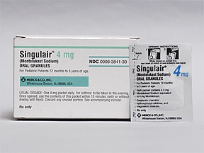 Singulair 4 mg oral granules in packet