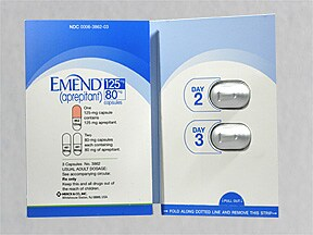 Emend 125 mg (1)-80 mg (2) capsules in a dose pack