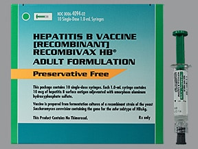 Recombivax HB (PF) 10 mcg/mL intramuscular syringe