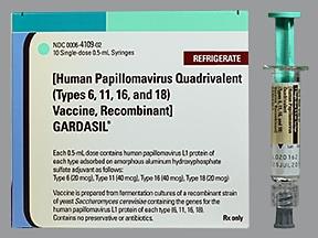 Gardasil (PF) 20mcg-40mcg-40mcg-20mcg/0.5mL intramuscular syringe
