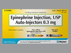 epinephrine 0.3 mg/0.3 mL injection, auto-injector