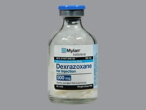 dexrazoxane HCl 500 mg intravenous solution