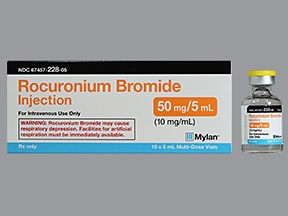 rocuronium 10 mg/mL intravenous solution
