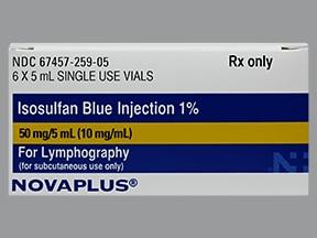 isosulfan blue 1 % subcutaneous solution