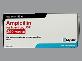 ampicillin 250 mg solution for injection