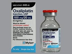 oxaliplatin 100 mg/20 mL intravenous solution