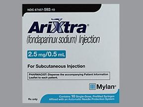 Arixtra 2.5 mg/0.5 mL subcutaneous solution syringe