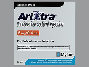 Arixtra 5 mg/0.4 mL subcutaneous solution syringe