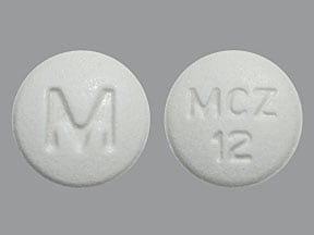 meclizine 12.5 mg tablet