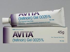 Avita 0.025 % topical gel
