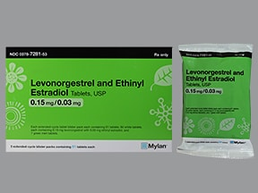 levonorgestrel 0.15 mg-ethinyl estradiol 30 mcg tablets,3 month pack