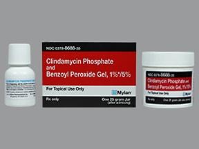 clindamycin 1 %-benzoyl peroxide 5 % topical gel