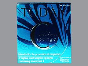Today Contraceptive Sponge 1,000 mg vaginal contraceptive sponge