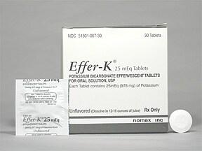 Effer-K 25 mEq effervescent tablet