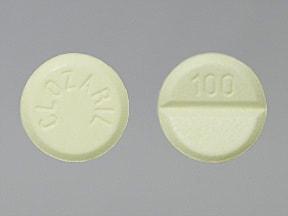 Clozaril 100 mg tablet