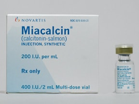 Miacalcin 200 unit/mL injection solution