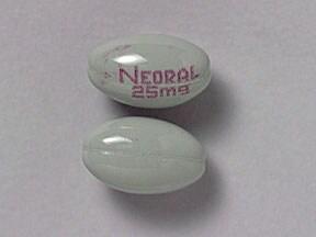 Neoral 25 mg capsule