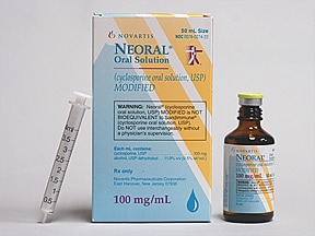 Neoral 100 mg/mL oral solution