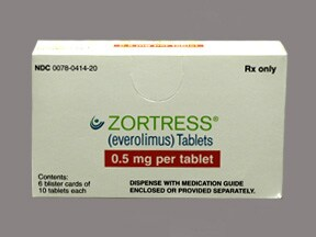 Zortress 0.5 mg tablet