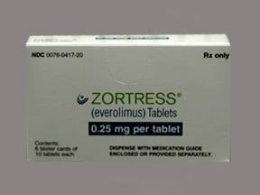 Zortress 0.25 mg tablet