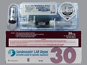 Sandostatin LAR Depot 30 mg intramuscular susp,extended release