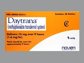Daytrana 15 mg/9 hr daily patch