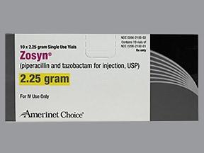 Zosyn 2.25 gram intravenous solution