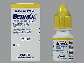 Betimol 0.5 % eye drops