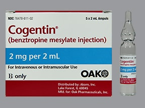 Cogentin 2 mg/2 mL injection solution