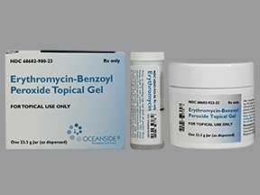 erythromycin-benzoyl peroxide 3 %-5 % topical gel