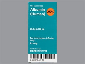 Albumin, Human 25 % Intravenous : Uses, Side Effects