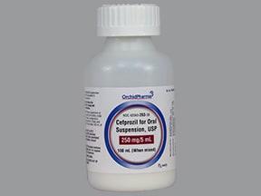 cefprozil 250 mg/5 mL oral suspension