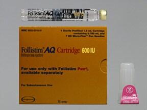 Follistim AQ 600 unit/0.72 mL subcutaneous cartridge